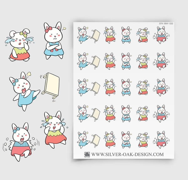 Bad Day Planner Stickers | Bunny Rabbit | BNY-032