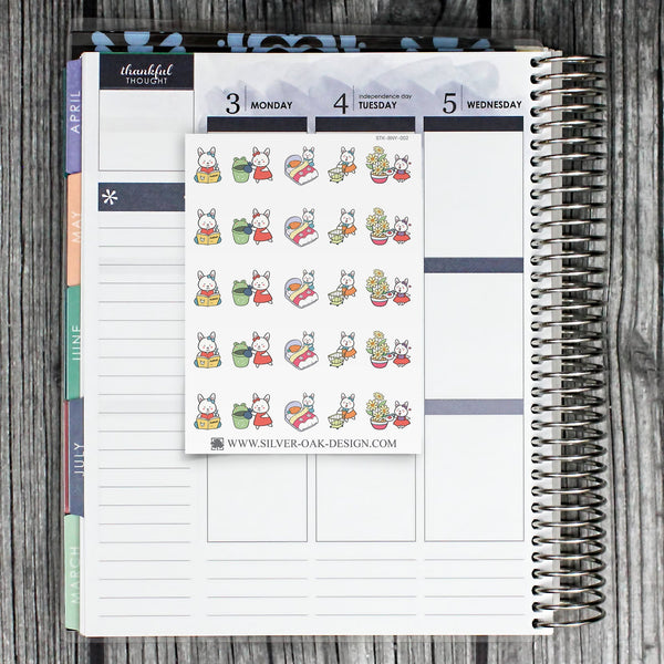 BNY-002 | Bunny Rabbit Housework Chore Planner Stickers