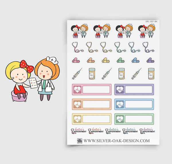 Doctor's Appointment Planner Stickers | GRL-057