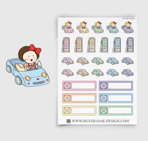 Car Maintenance Planner Stickers | GRL-059