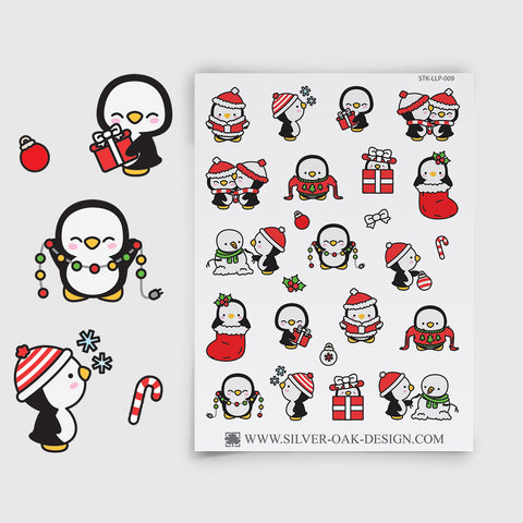 Christmas Penguin Planner Stickers | LLP-009