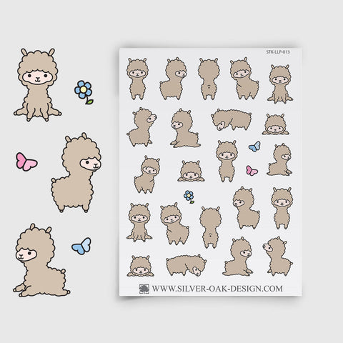 Cute Kawaii Llama Planner Stickers | LLP-013