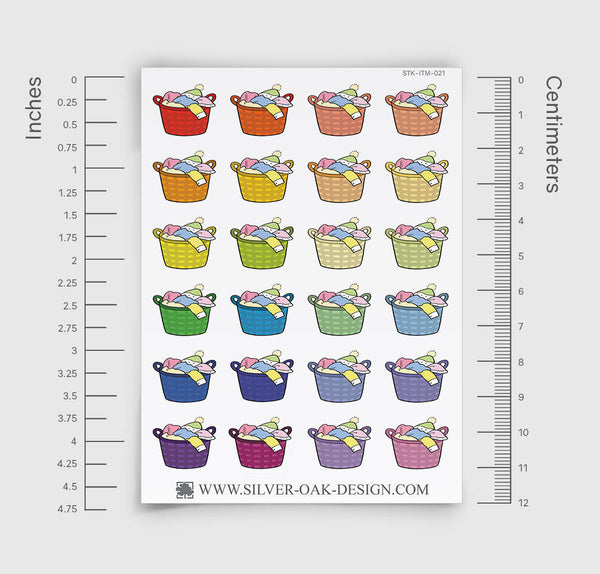 Laundry Basket Planner Stickers | ITM-021