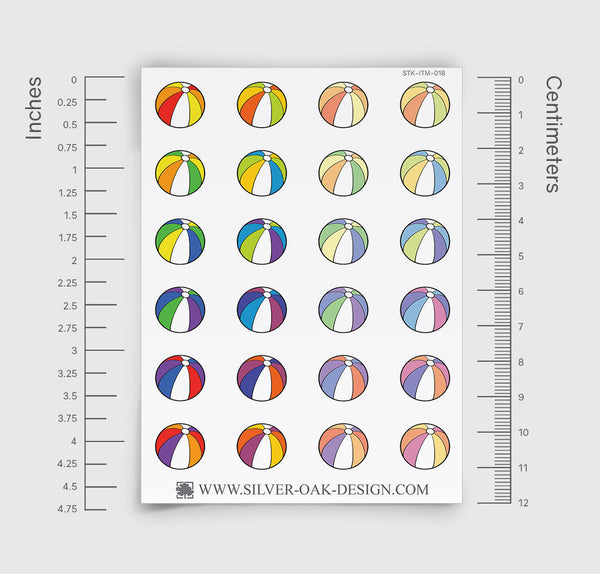 Beach Ball Planner Stickers | ITM-018