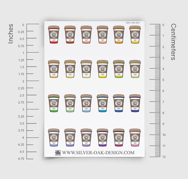 Coffee Cup Planner Stickers | ITM-041