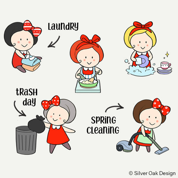 Housework Planner Stickers | Cleaning | GRL-001