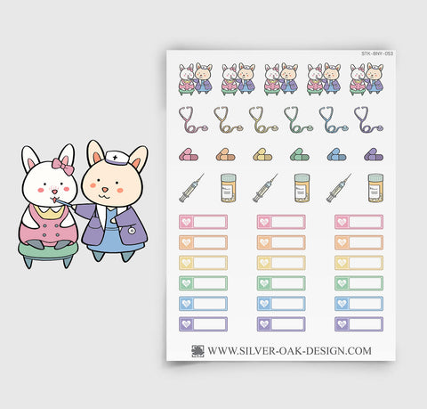 Doctor Appointment Planner Stickers | Bunny Rabbit | BNY-053