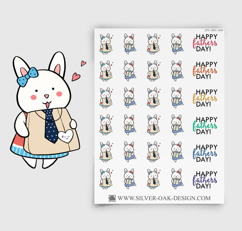Father's Day Planner Stickers | Bunny Rabbit | BNY-040