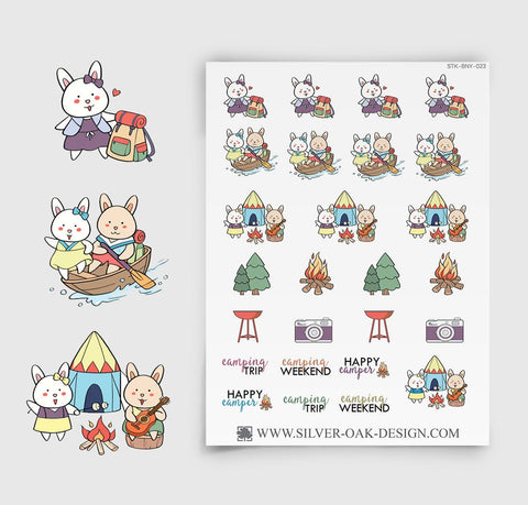 Camping Planner Stickers | Bunny Rabbit | BNY-023