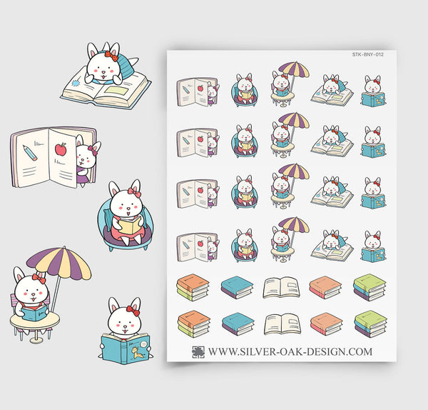 Reading Planner Stickers | Bunny Rabbit | BNY-012