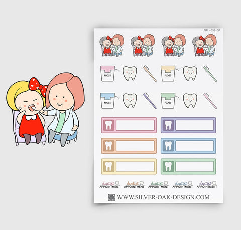 Dentist Appointment Planner Stickers | GRL-058