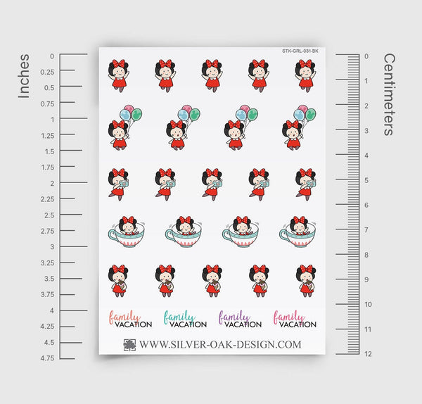 Family Vacation Planner Stickers | GRL-031