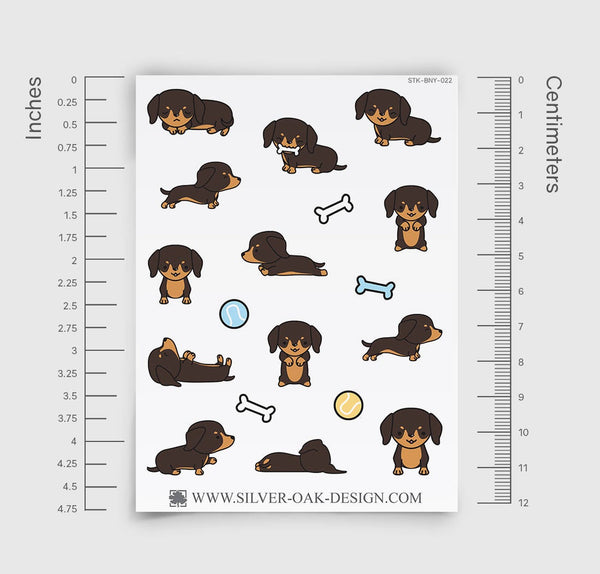 Cute Dachshund Wiener Dog Planner Stickers | LLP-022