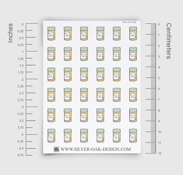 Pill Bottle Planner Stickers | ITM-078