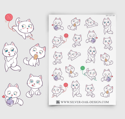 CAT-001 | Bella Kitty Cat Kawaii Planner Stickers