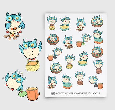 Owl Housekeeping Planner Stickers | Chores | Housework | OWL-003
