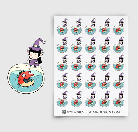 Feeding Fish Planner Stickers | WLW-006
