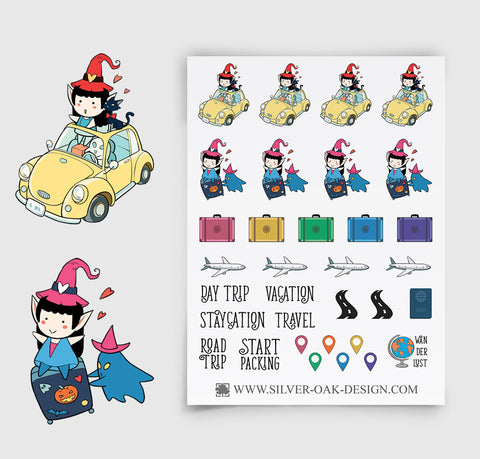 WLW-010 | Willow the Witch Vacation Travel Planner Stickers