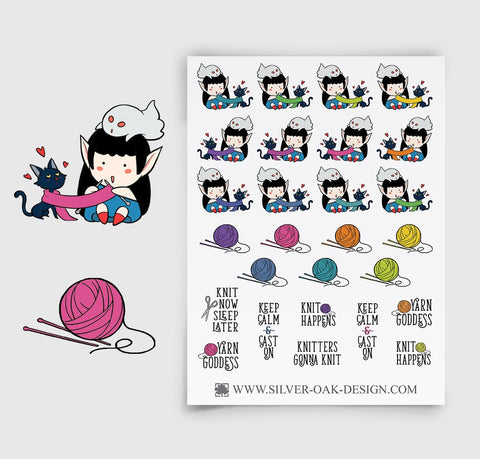 Knitting Planner Stickers | WLW-011