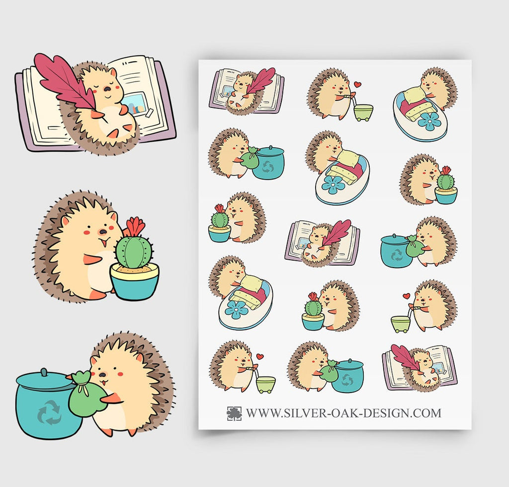 Hedgehog Housekeeping Planner Stickers | Chores | HDG-003
