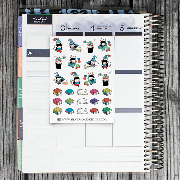 Book Reading Planner Stickers | WLW-008