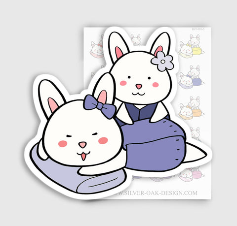 BNY-005-C | Bunny Rabbit Spa Day Planner Stickers