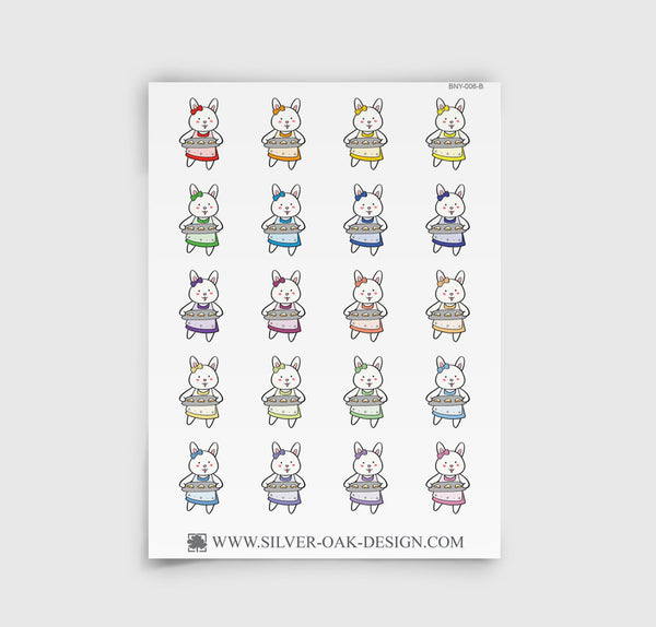 Bunny Rabbit Baking Planner Stickers | BNY-006-B