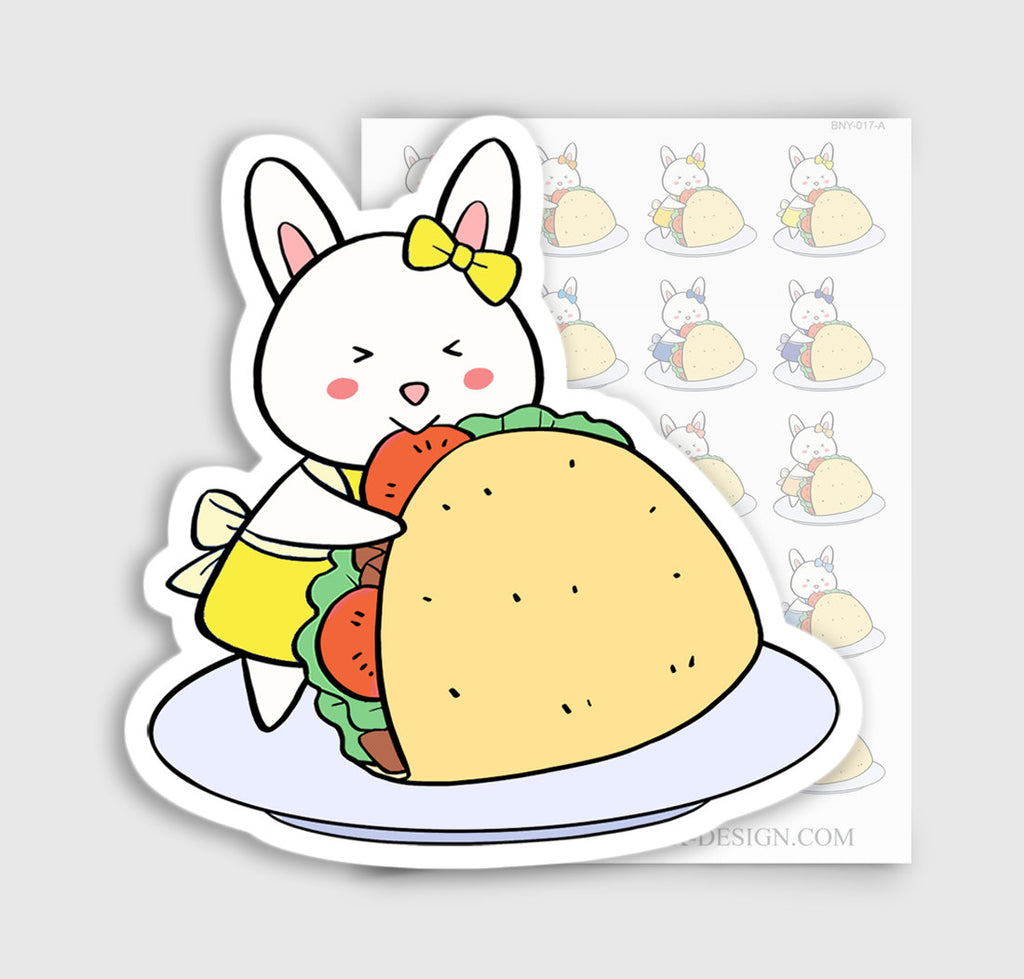 Bunny Rabbit Taco Tuesday Planner Stickers | BNY-017-A