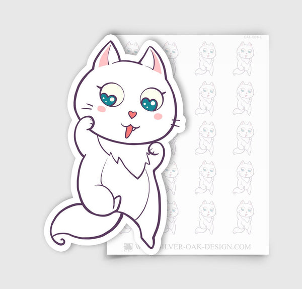 Bella the Kitty Cat Planner Stickers | CAT-001-E