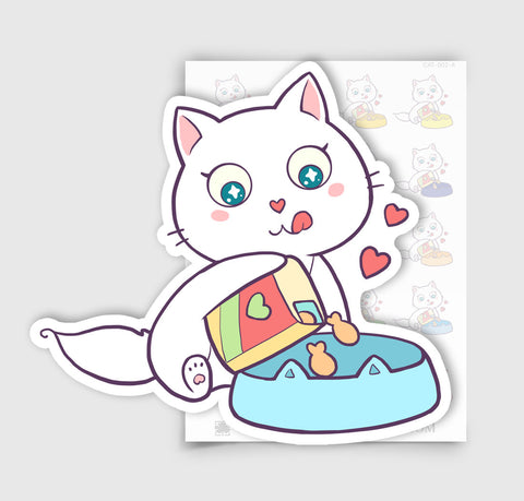 CAT-002-A | Bella Kitty Cat Making a Meal Planner Stickers