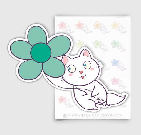 Bella Kitty Party Balloons Cat Planner Stickers | CAT-004-B