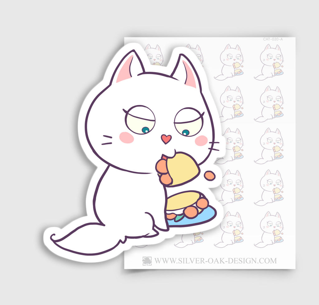 Cute Bella Kitty Cat Taco Planner Stickers | CAT-020-A