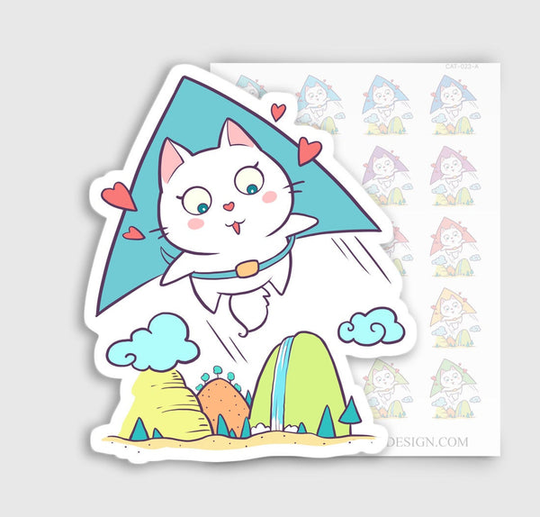 Cute Kitty Cat Vacation Planner Stickers | CAT-023-A