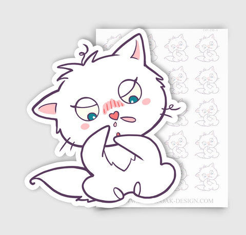 Bella Kitty Cat Sick Day / Cold Flu Allergies Planner Stickers | CAT-016-A