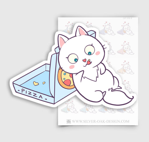 Bella Kitty Pizza Night Planner Stickers | CAT-018-B