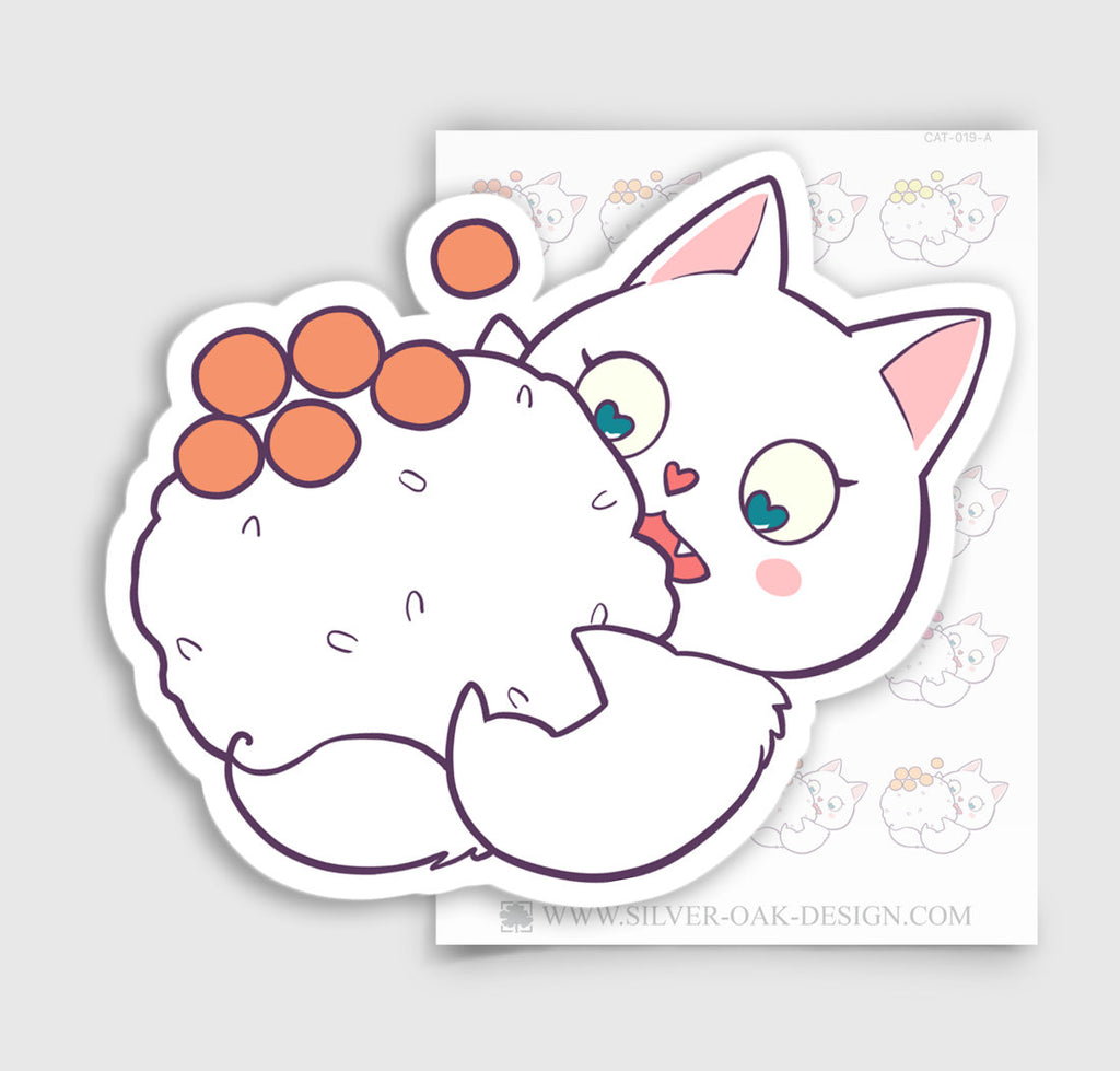 Cute Bella Kitty Cat Sushi Planner Stickers | CAT-019-A