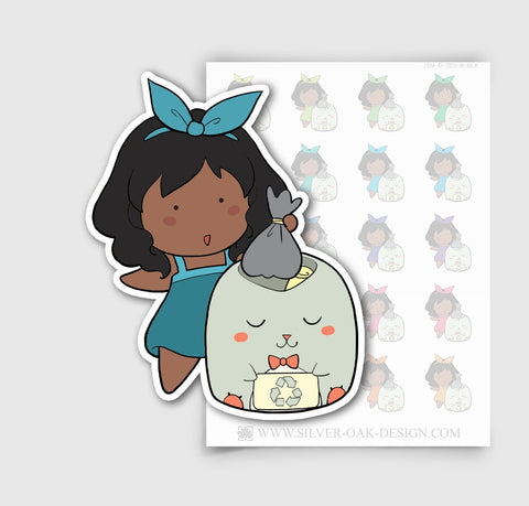 JSM-002-B | Jasmine Recyling Custom Character Planner Stickers