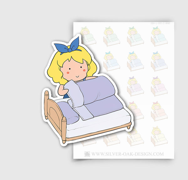 JSM-001-C | Jasmine Making Bed / Changing Linens Planner Stickers