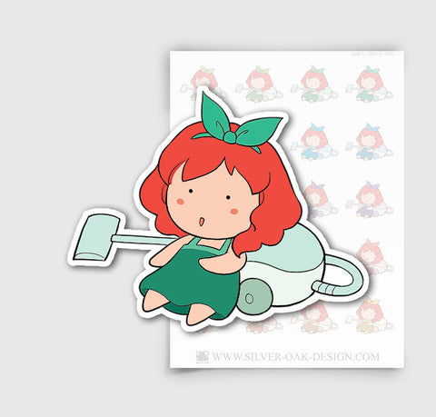 JSM-001-E | Jasmine Vacuuming / Household Chores Planner Stickers