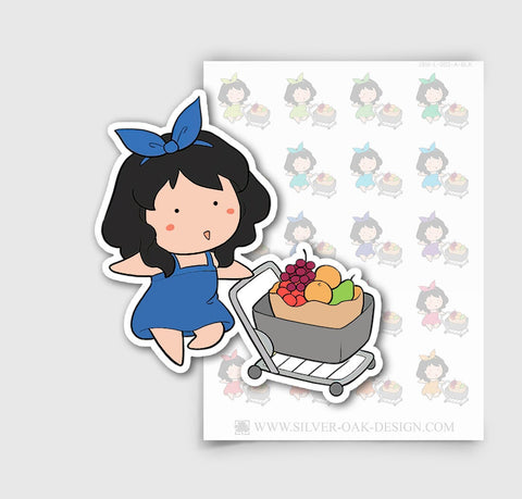 JSM-002-A | Jasmine Grocery Shopping  Planner Stickers