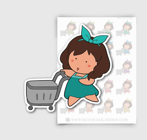 JSM-001-D | Jasmine Grocery Shopping Custom Character Planner Stickers