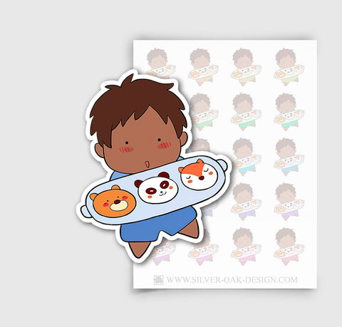 NOA-001-B | Noah Baking / Cooking Custom Boy Character Planner Stickers