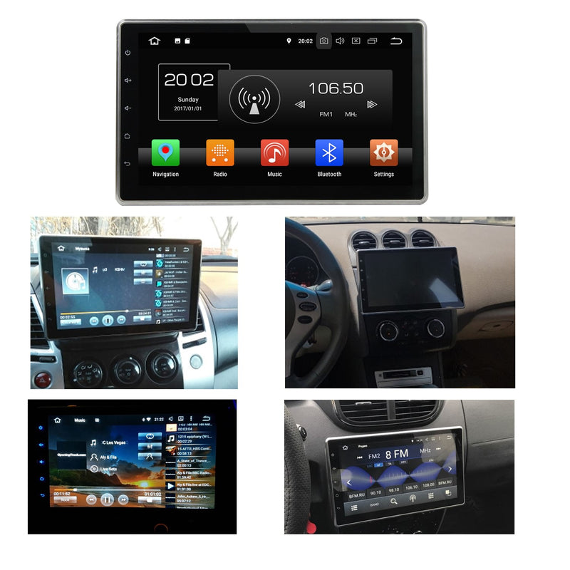 10.1 inch 1024x600 Touchscreen Android 8.0 OS Universal Car GPS Head Unit, 8 Core 1.5G CPU 32G Flash 4G DDR3 RAM, DVD Player Radio Bluetooth USB/SD - foyotech