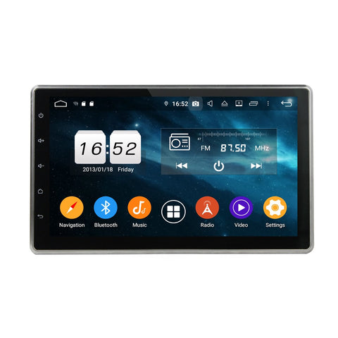 10.1 inch Touchscreen Android 9.0 Pie OS Universal Car GPS Head Unit, 8 Core 1.5G CPU 32G Flash 4G DDR3 RAM, DVD Player Radio Bluetooth USB/SD - foyotech