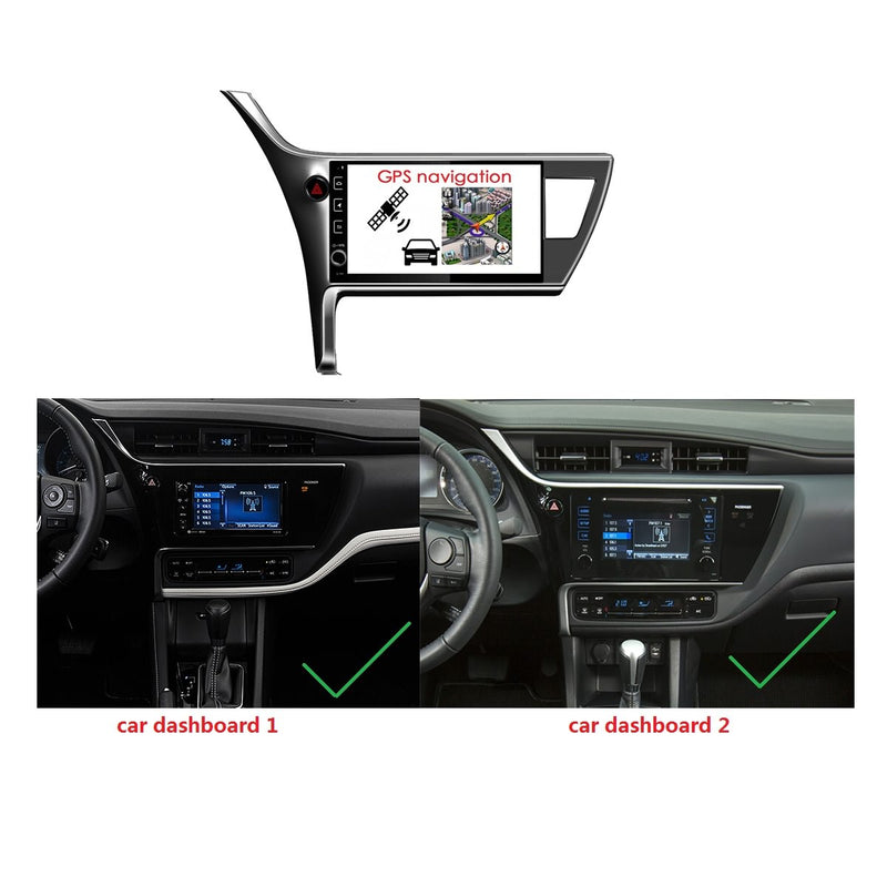 Android 10 1 Din 10.1 Inch 1024x600 Touchscreen Autoradio Headunit for Toyota Corolla/Innova Crysta(2016 2017 2018 2019 2020) LHD, Octa Core 1.5GB CPU 32GB Flash 4GB DDR3 RAM, Auto Radio GPS Navigation 3G 4G WIFI Bluetooth USB DSP Carplay&Auto Steering Wheel Control. Vehicle Touch Screen Multimedia Video Player System Head Unit.