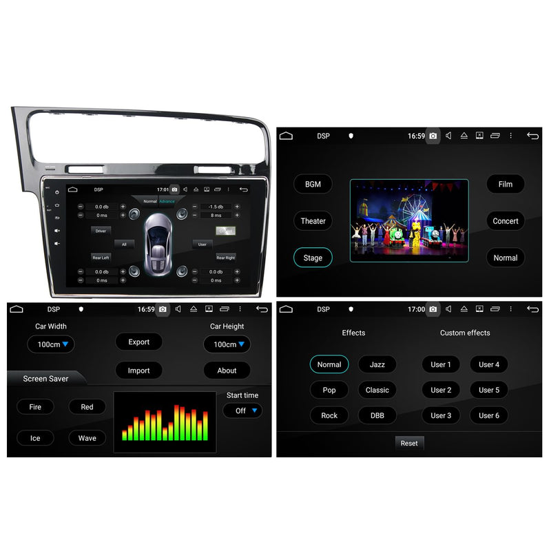 Android 10 Single Din 10.1 Inch 1024x600 Touchscreen Autoradio Headunit for Volkswagen Golf 7/Golf MK7(2013-2018), 8 Core 1.5GB CPU 32GB Flash 4GB DDR3 RAM, Auto Stereo GPS Navigation 3G 4G WIFI Bluetooth USB DSP Carplay&Auto Steering Wheel Control. 1Din Vehicle Touch Screen Multimedia Video Player System Head Unit.