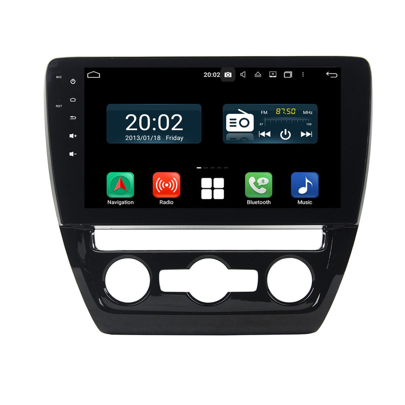 Android 10 Double Din 10.1 Inch 1024x600 Touchscreen Autoradio Headunit for Volkswagen Sagitar/Jetta(2012-2016), Octa Core 1.5GB CPU 32GB Flash 4GB DDR3 RAM, Car Stereo GPS Navigation 3G 4G WIFI Bluetooth USB DSP Carplay&Auto Steering Wheel Control. 2Din Vehicle Touch Screen Multimedia Video Player System Head Unit.
