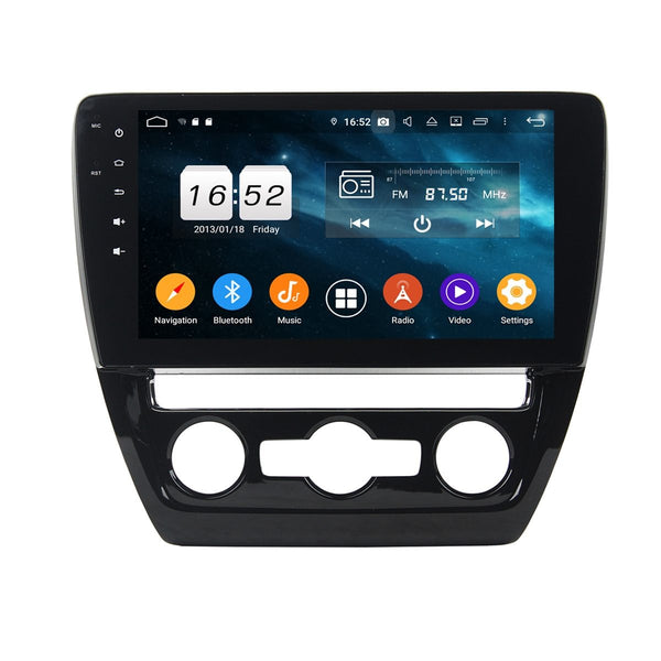 Android 9.0 OS 10.1 Inch Touchscreen DSP Auto GPS Navigation for VW Sagitar/Jetta(2012-2016), 4GB RAM+32GB ROM, Car Stereo Bluetooth 4G WIFI Headunit - foyotech