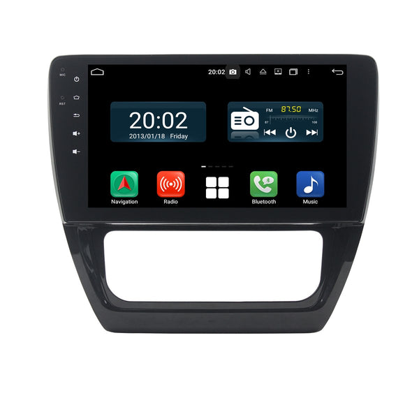 Android 10 Double Din 10.1 Inch 1024x600 Touchscreen Autoradio Headunit for Volkswagen Sagitar/Jetta(2012-2016), Octa Core 1.5GB CPU 32GB Flash 4GB DDR3 RAM, Car Stereo GPS Navigation 3G 4G WIFI Bluetooth USB DSP Carplay&Auto Steering Wheel Control. 2 Din Vehicle Touch Screen Multimedia Video Player System Head Unit.