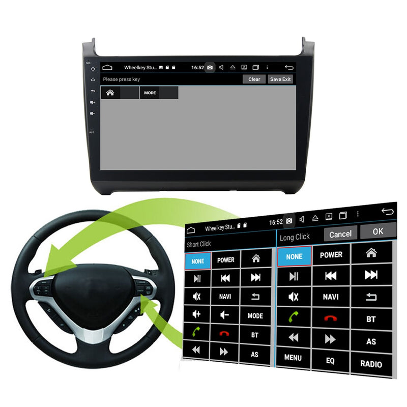 Android 10 2 Din 10.1 Inch 1024x600 Touchscreen Autoradio Headunit for VW Polo 2015 2016 2017 2018, Octa Core 1.5GB CPU 32GB Flash 4GB DDR3 RAM, Car Stereo GPS Navigation 3G 4G WIFI Bluetooth USB DSP Carplay&Auto Steering Wheel Control. 2Din Vehicle Touch Screen Multimedia Video Player System Head Unit.